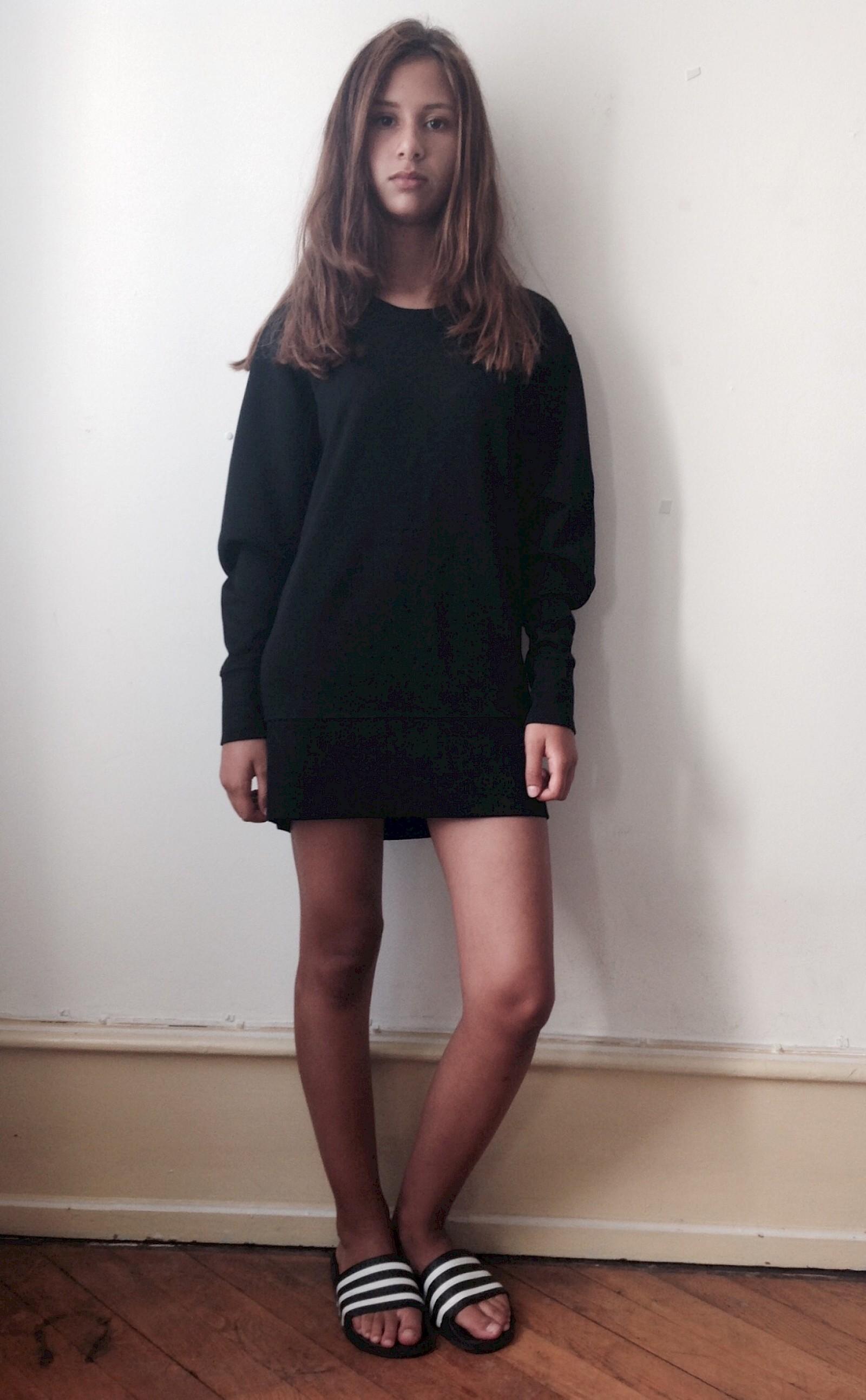 28ec6ac9e7b Basel Bazaar | LBD Helmut Lang oversized sweater dress Adilettes black