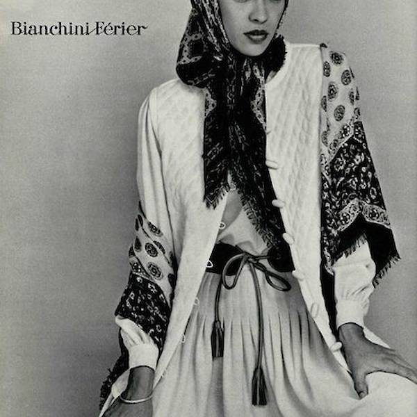 YSL vintage Yevs Saint Laurent Rive Gauche Vogue archives Babushka folk folklore BaselBazaar b&w fashion photograpy