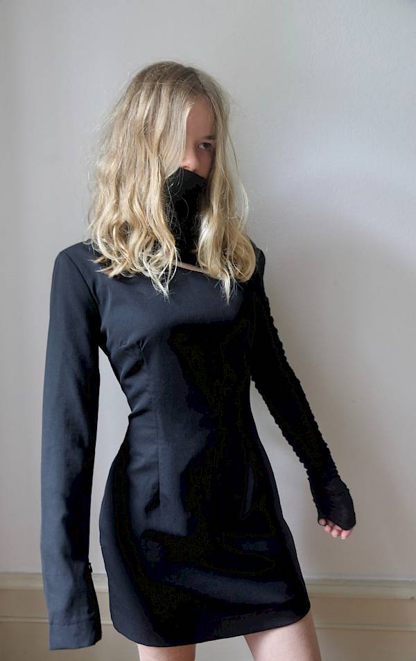 Lilli blondie vintage wool Balmain dress Saint Laurent Jacquemus Vogue bazaar LBD little black dress